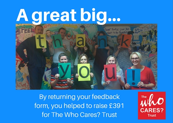 The Who Cares? Trust Thanks Our Foster Carers.